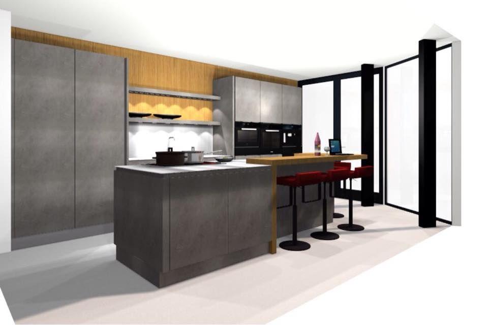 Wildhagen 3d ontwerp van moderne design keuken www for 3d ontwerp keuken
