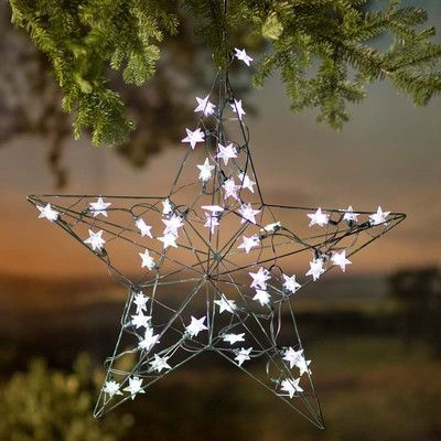 Wind  Weather Solar LED Lighted Star Products Pinterest Solar