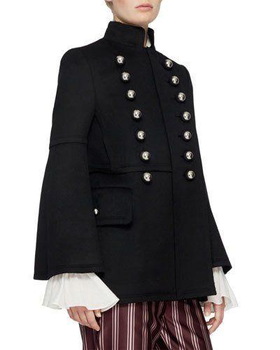 32bc591e2a W0G24 Burberry Military Wool Jacket, Black | Fashion | Burberry ...
