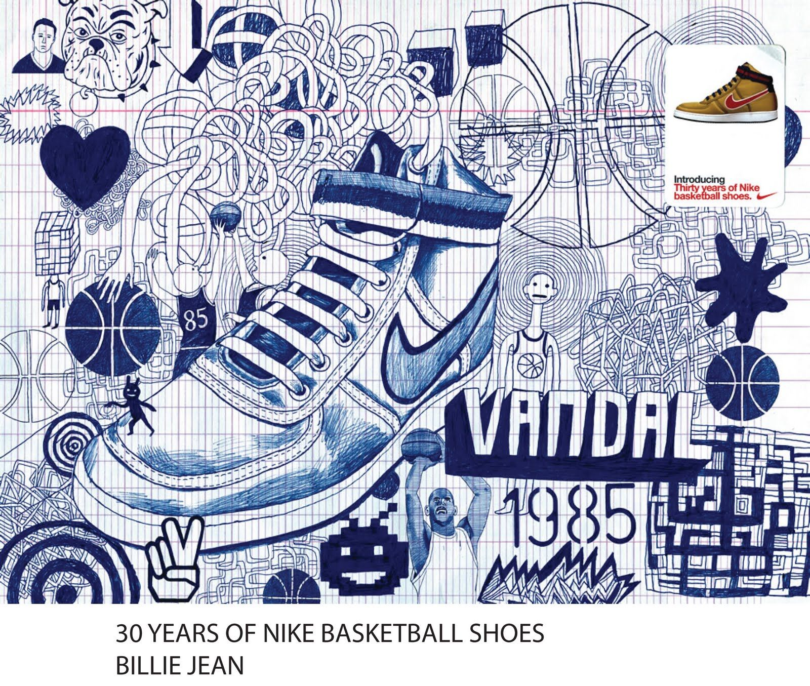 Poster design jeans - Billie Jeans Advertisement Poster For Nike Basketball Shoes