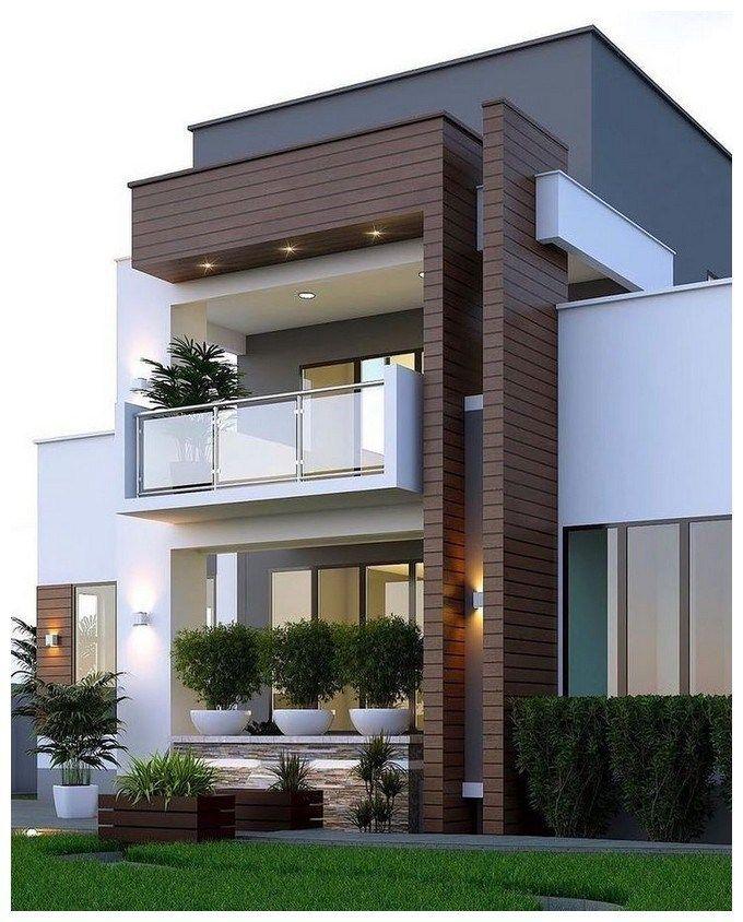 44 Best Of Minimalist Houses Design Simple Unique And Modern Desain Depan Rumah Rumah Arsitektur Eksterior Rumah Modern Small house design minimalist