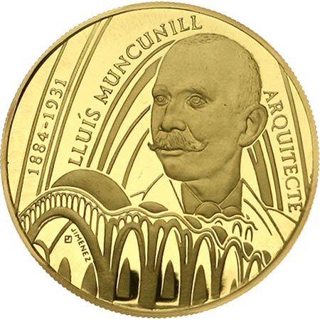 Moneda de oro 250 euro Catalunya 1998 LLuís Muncunill.