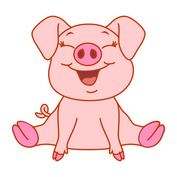 Cute Baby Pig Cuttable Design Cut File Vector Clipart Digital