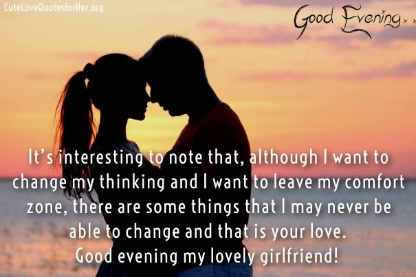 Good Evening Quotes For Her Cute Love Quotes For Her Evening