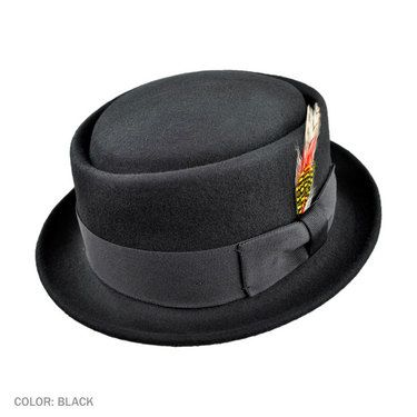 Jaxon Crushable Pork Pie Hat (Black)  36  4d890bd17ba
