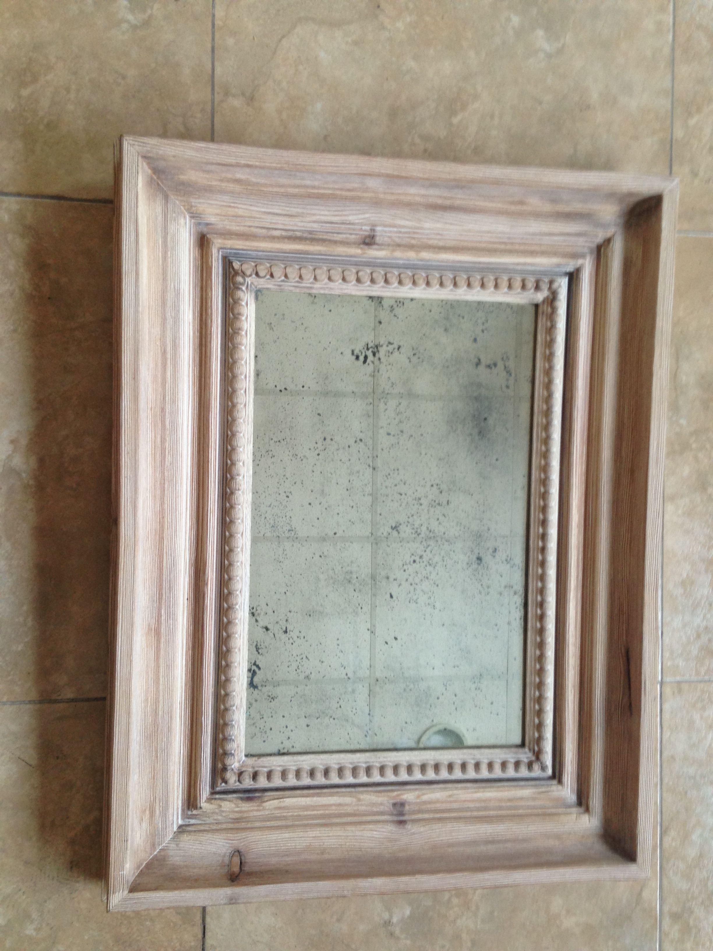 marco 10cm pino con espejo envejecido impresionante marco