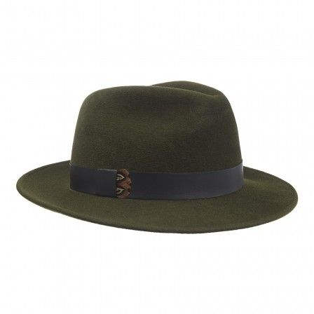 271a7ff4 Green Amber trilby hat made from 100% rabbit fur felt with leather and  pheasant feather band trim from @penmaynelondon.