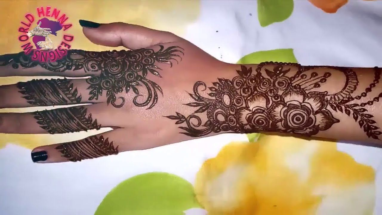 Latest beautiful easy arabic mehndi design for hands  simple also rh pinterest