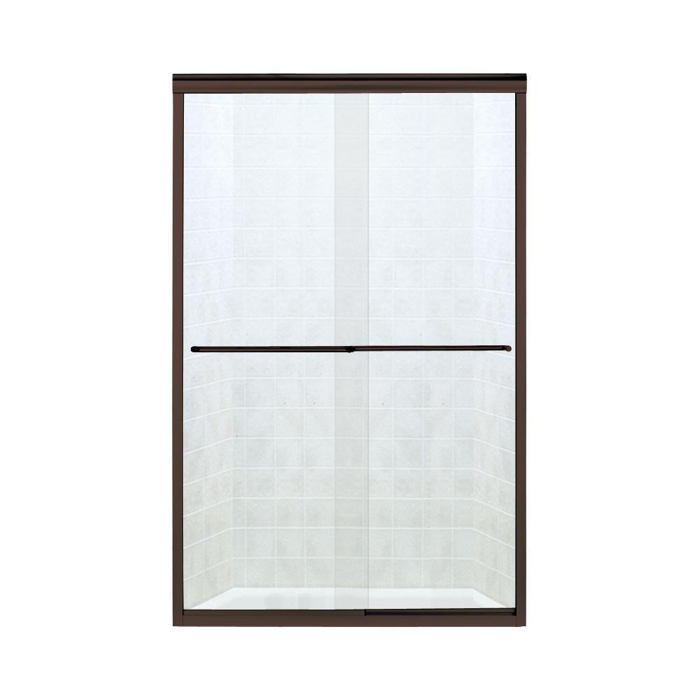 STERLING Finesse 47.25 in. x 70.3125 in. Frameless Sliding Shower Door in Deep Bronze-5375EZ-47DR #framelessslidingshowerdoors