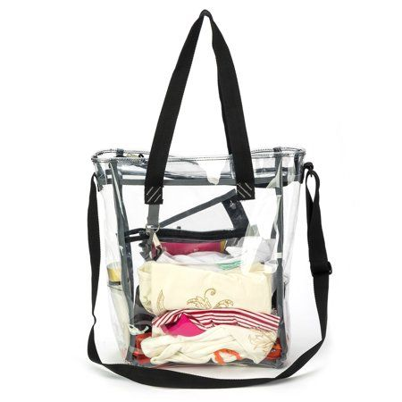 Heavy Duty Clear Tote Bag See Through Messenger Durable