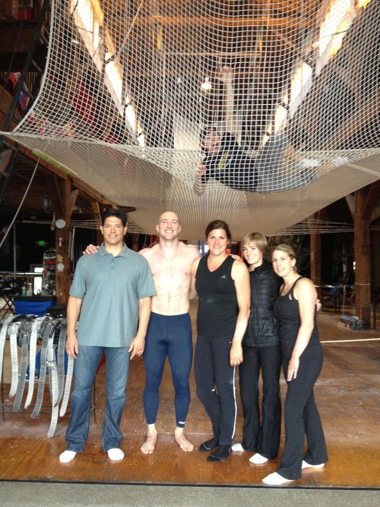 Korrio Marketing Team trip to Emerald City Trapeze Arts in