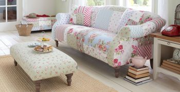 Patchwork Patterned Sofa