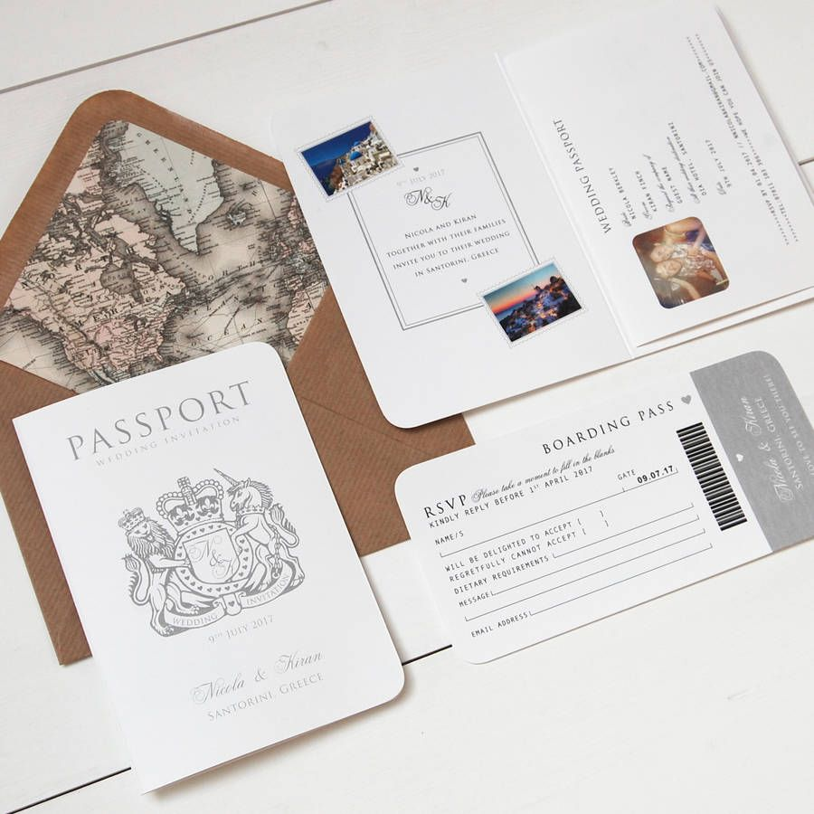 Around The World\' Passport Wedding Invitation | Passport wedding ...