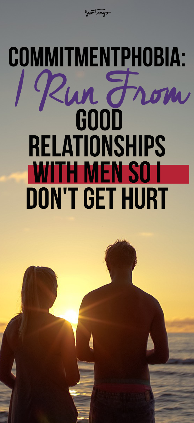 men afraid of getting hurt