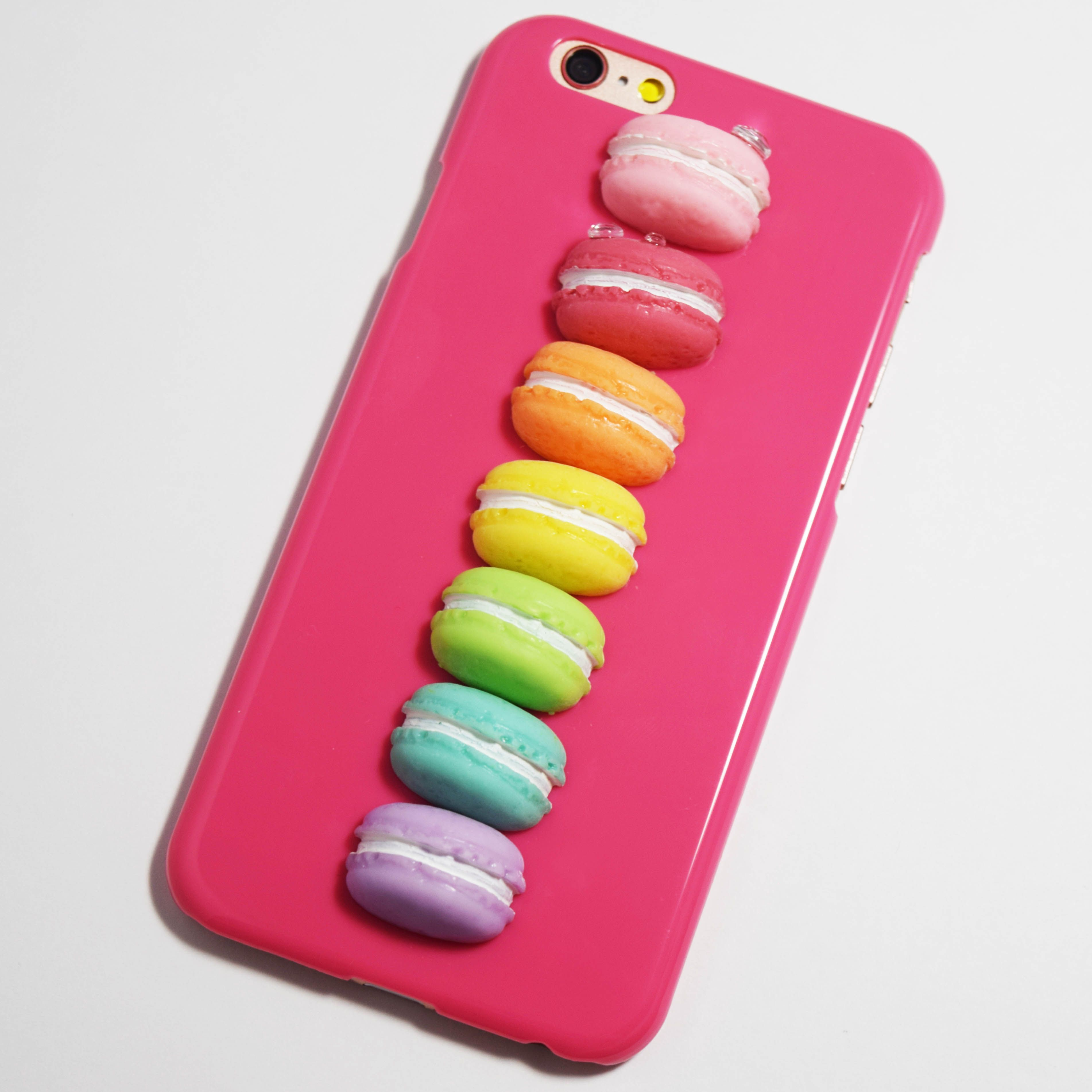 Rose Pink 3d Macarons Iphone 6 6s Hard Case In 2018 Casing 4 4s Softcase Motif Owl Rainbow