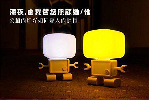 Sealive Smart Light Cute Robot Led Sound Control Desk Table Lamp Home Baby Bedroom Nursey Night Light Giftdecora Nursery Night Light Night Light Smart Lighting