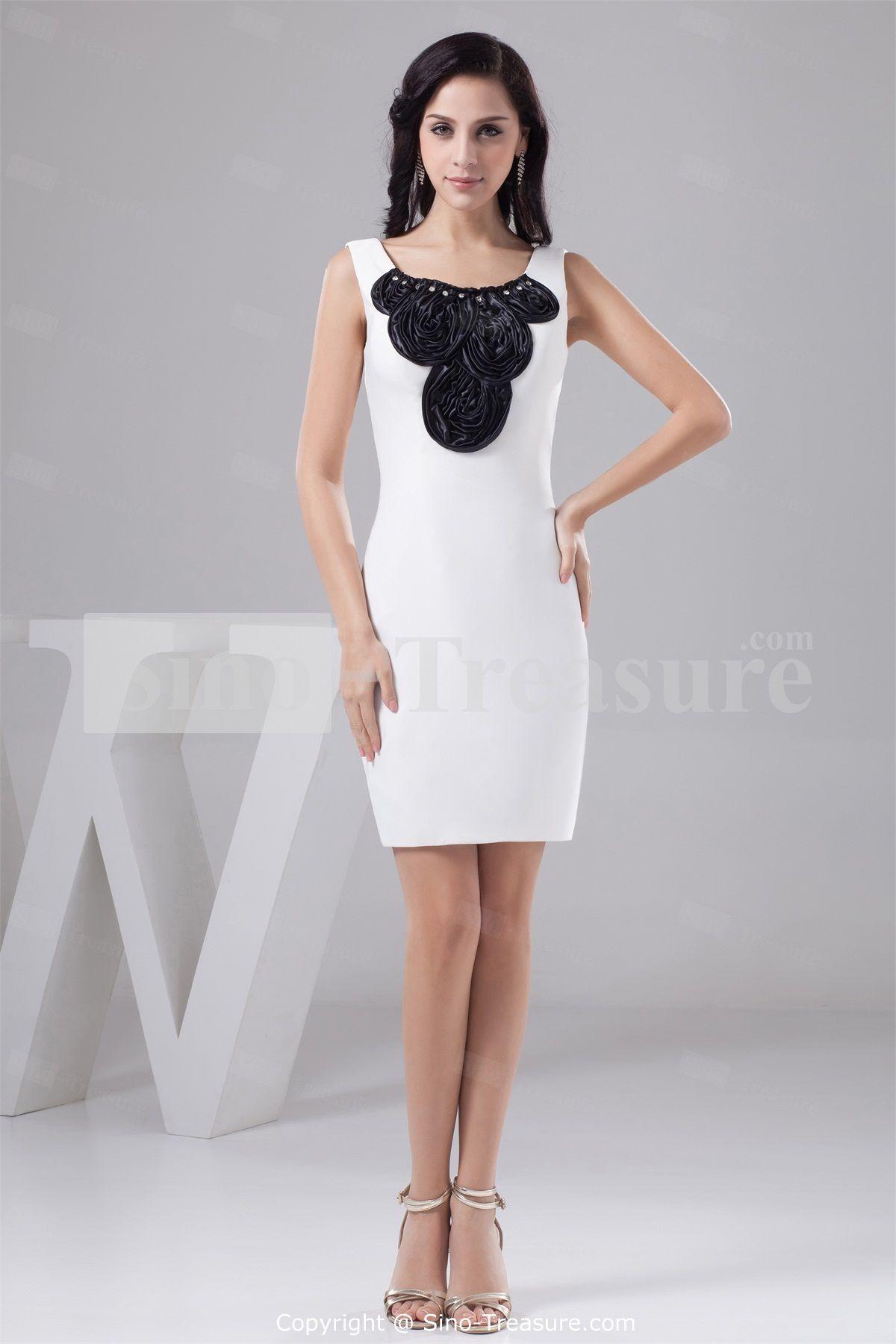 White black short mini silk like satin bridesmaid dresses 2013 white black short mini silk like satin bridesmaid dresses 2013 ombrellifo Images