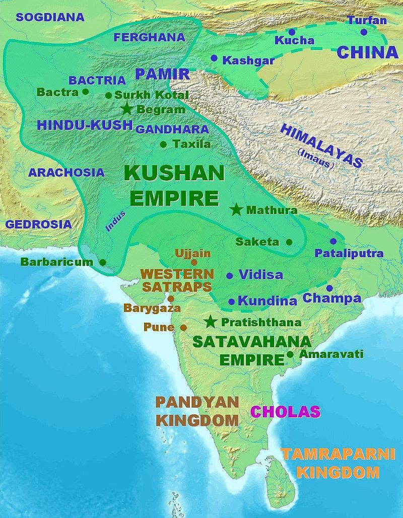 El Imperio De Kushan En Su Maxima Extension 150 250 Dc History Of India Ancient Indian History Indian History