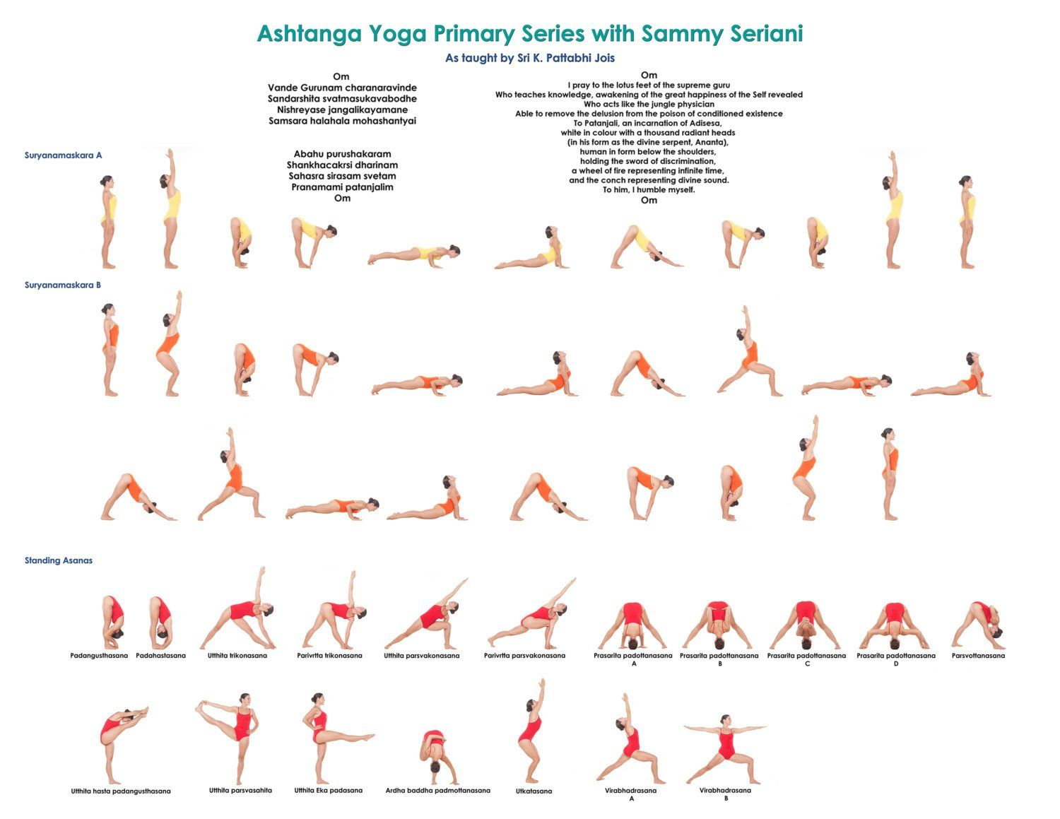 """Hot Yoga Poster 24/"""" x 36 /"""" Wall Posture Chart Practice Guide LAMINATED"""