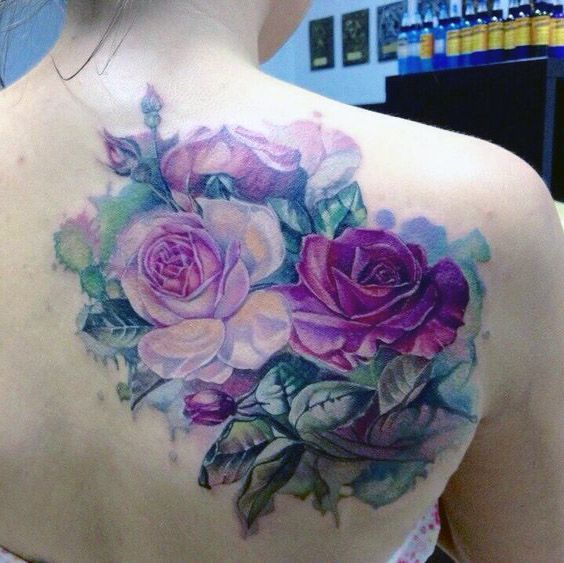 Tatuaze Kwiaty Na Plecach Tattoos Rose Tattoos Rose Tattoo