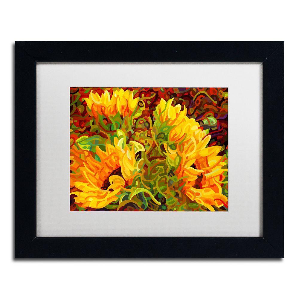 Trademark Fine Art Four Sunflowers Black Framed Wall Art | Framed ...