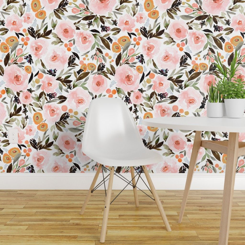 Yellow Vintage Floral Peel And Stick Wallpaper By Drew Barrymore Flower Home Walmart Com In 2020 Vintage Floral Wallpapers Peel And Stick Wallpaper Floral Wallpaper Bedroom