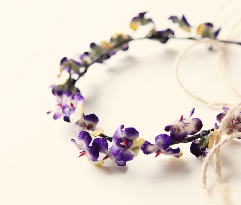 Violet Flower Crown Flowers Pinterest Flower Crown Flowers