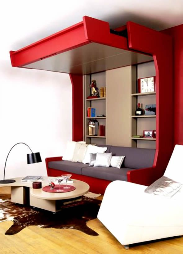 Space Saving Mobile Beds  Small Space Modular Living  Pinterest Pleasing Living Room Designs For Small Spaces Photos Design Decoration
