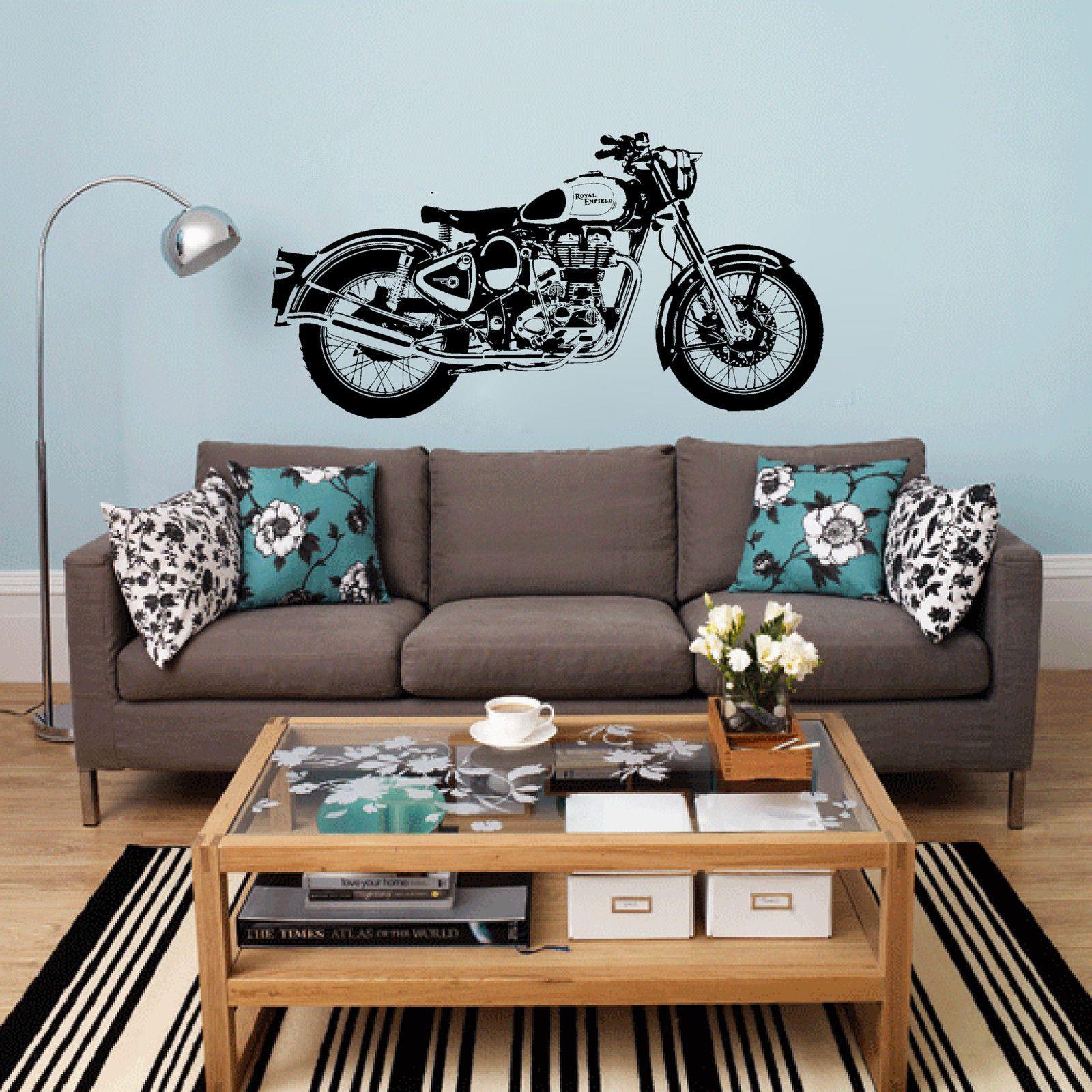 Buy D3681 Motorbike Wall Art Sticker Classic English Motorcycle