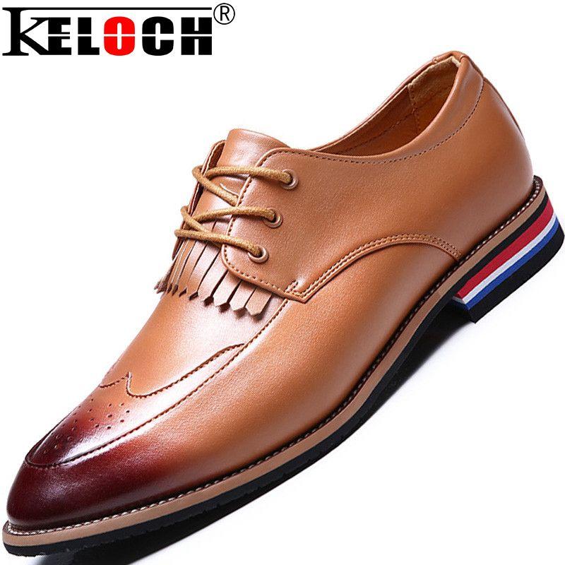 Fashion Men Dress Shoes Luxury Genuine Leather Oxford High Quality ...