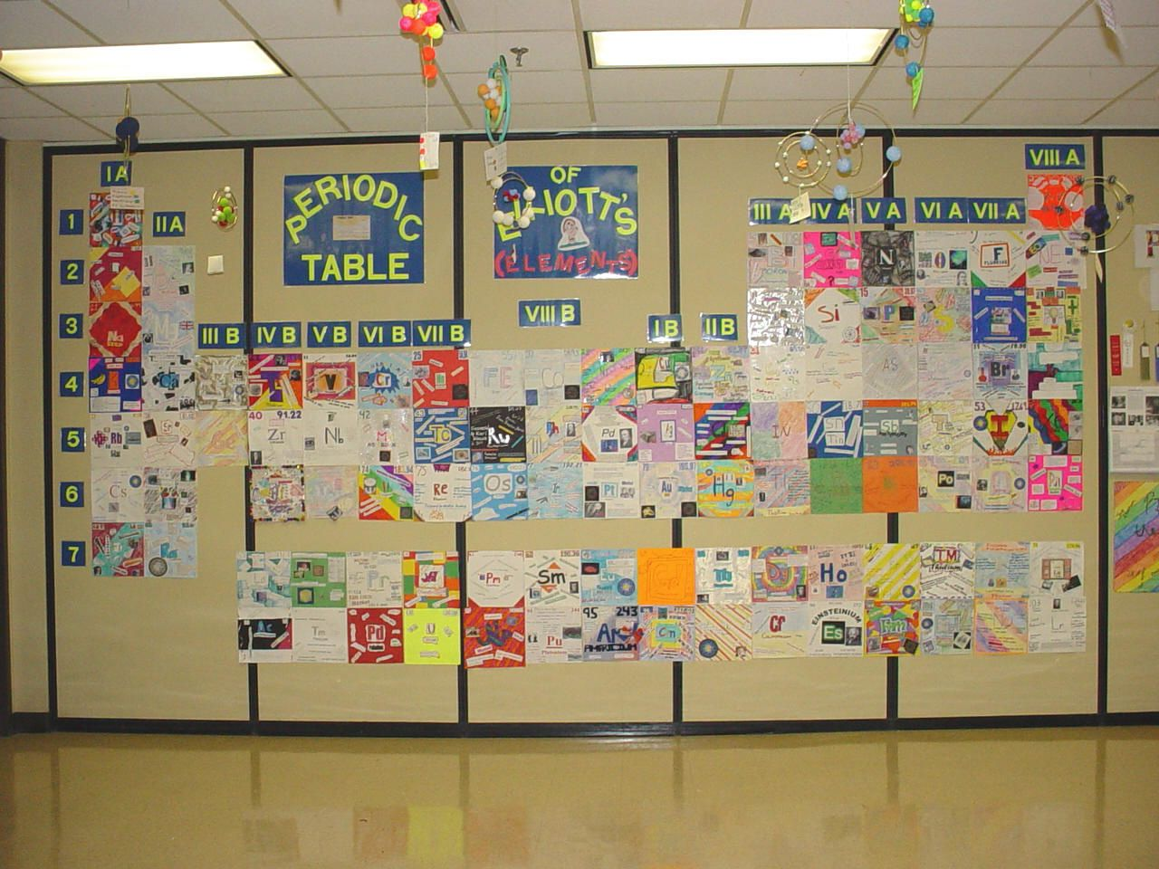 Periodic table project images periodic table wall projectg 25 have students create periodic table tiles to put up on the classroom wall gamestrikefo Images