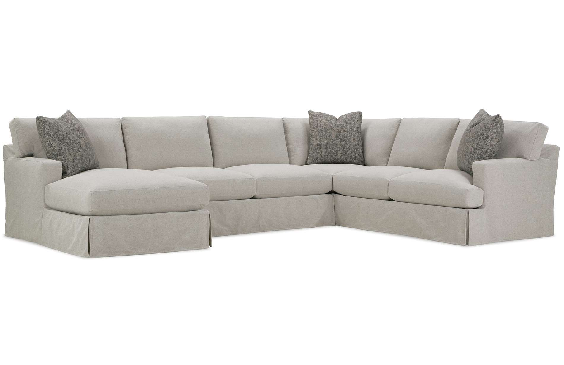 The Grayson Slipcover Sectional Sofa Is Designed For Those That Want Comfort With A Traditional St In 2020 Sectional Sofa Slipcovers Sectional Slipcover Rowe Furniture