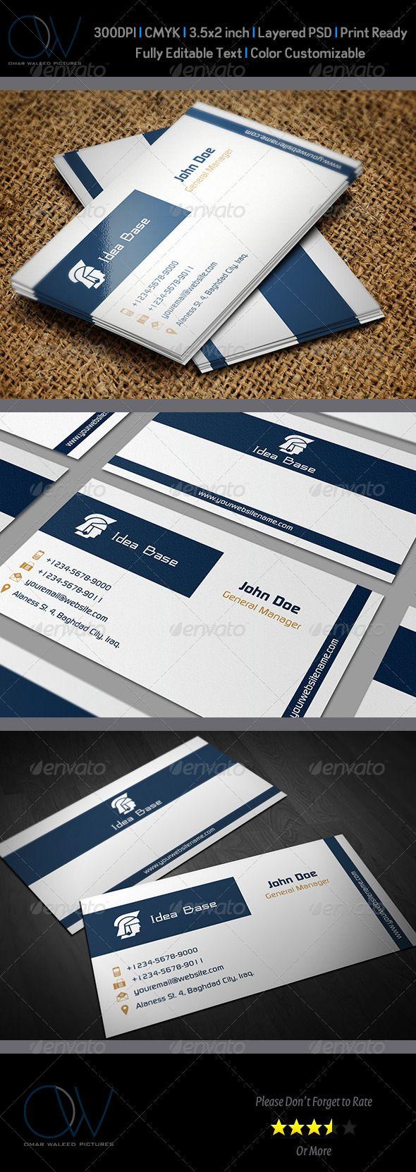 Classic Business Card V3 Classic Business Card Cool Business Cards Business Cards