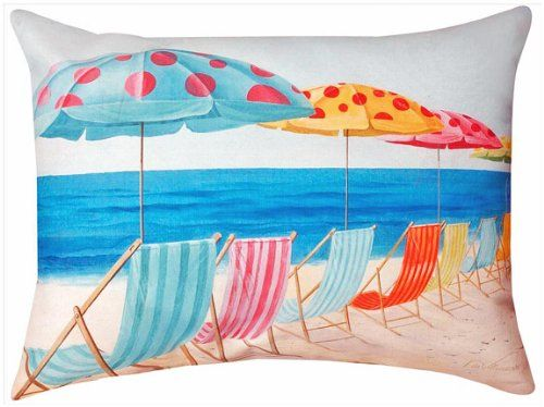 Ocean Viewu0027 Rectangular Pillow   24u0027 X 18u0027   Indoor Outdoor Beach Chair