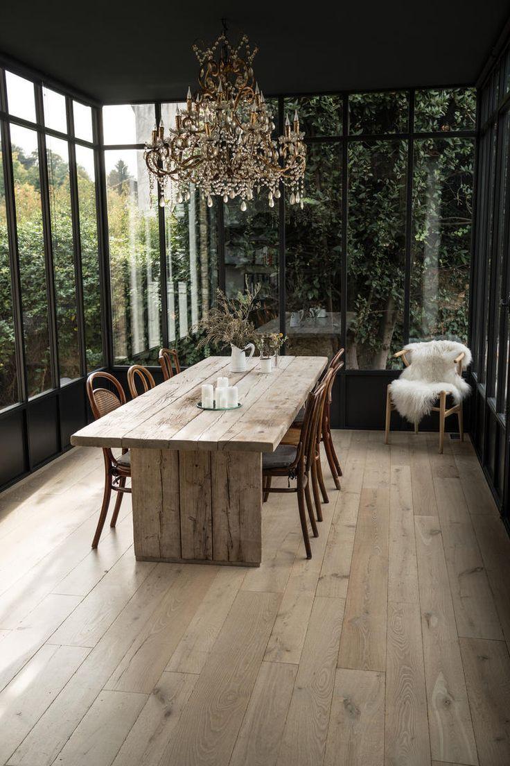 Parquet flooring natural aged wood veranda La