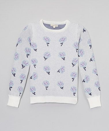 Loving this Ivory Flower Sweater - Toddler & Girls IT'S SO CUTE! Please use my code when you sign up! =D http://www.zulily.com/invite/lherd343