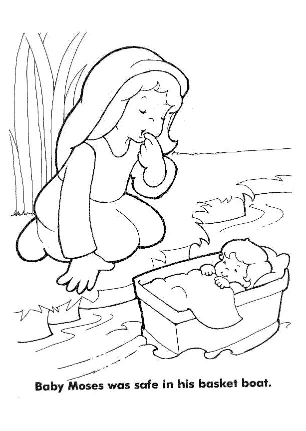 Moses Coloring Pages Coloring Pages Sunday School Coloring Pages Sunday School Kids Baby Moses