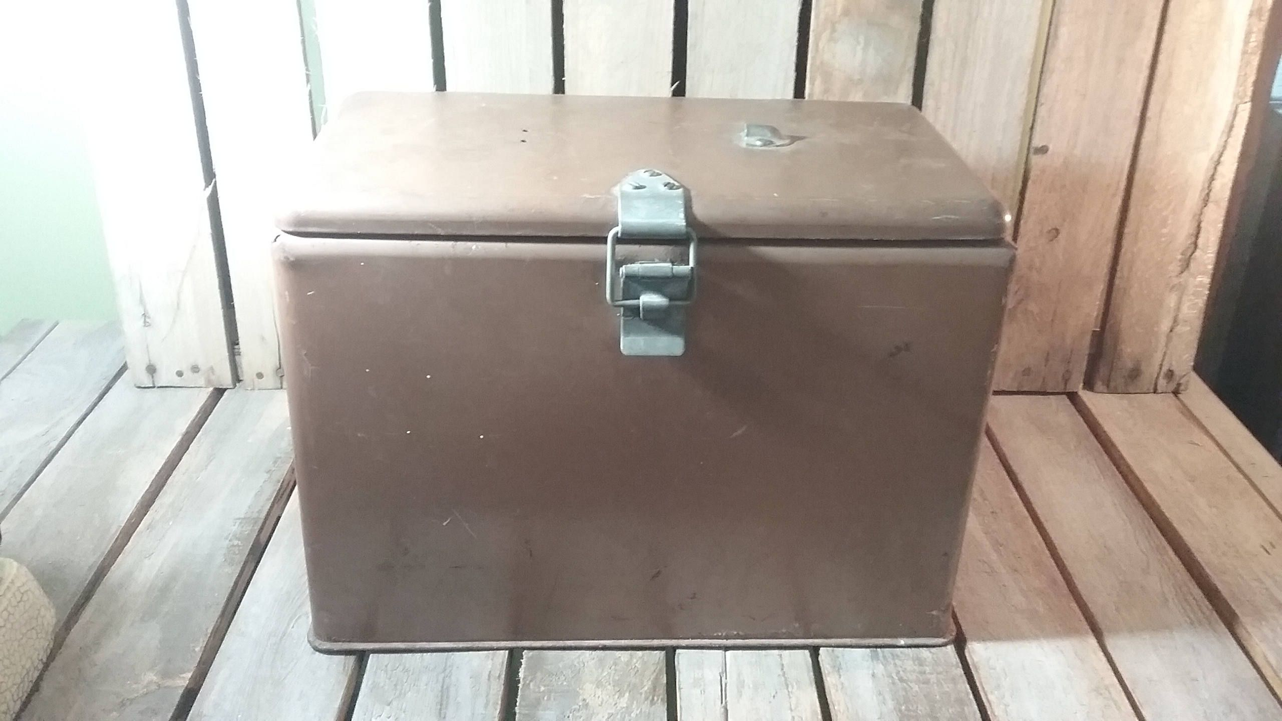 Metal Cooler/Vintage Cooler/Metal Ice Box/Metal Ice Chest/Metal ...
