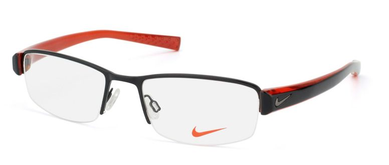 d59415bdfe Nike Glasses for Boys | about NIKE NK 8081 002 CARBON HEATHER BLACK &  ORANGE EYEGLASSES .