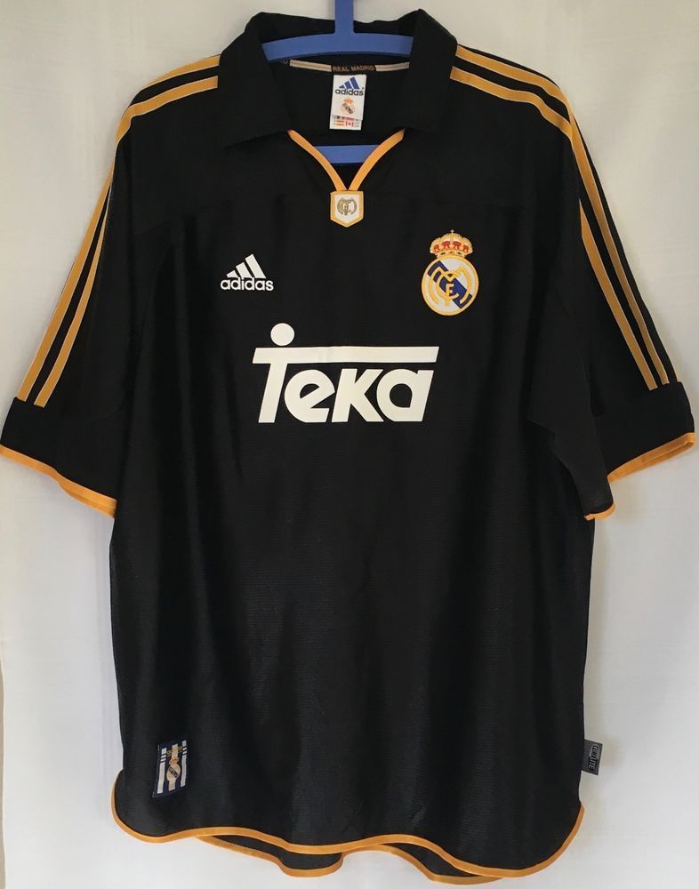 reputable site 069e2 3e174 Adidas Real Madrid Black XL Soccer Football Jersey Shirt ...