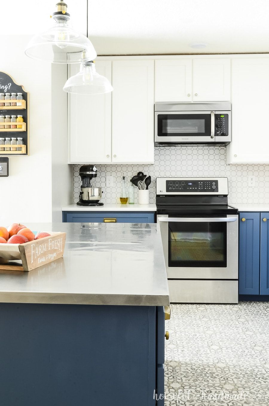 Blue & White Two Tone Kitchen Reveal (With images ...