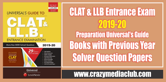 Clat Llb Entrance Exam 2019 20 Preparation Universal S Guide Books With Images Question Paper Science Notes