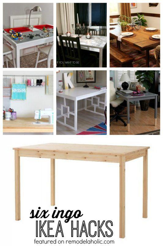 Six Ingo Dining Table Ikea Hacks Featured On Remodelaholic