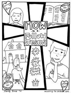 learning about Jesus This has a lot of coloring pages that are hand
