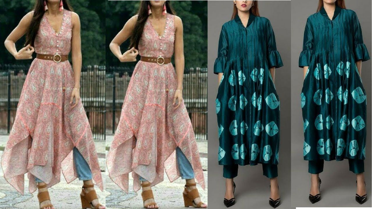 Stylish Kurti Designs Ideas || Trendy Kurti Ideas To Wear With Jeans ...