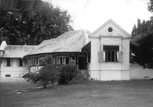 The Rear View of the Changi Creek Transit Hotel, circa 1953.