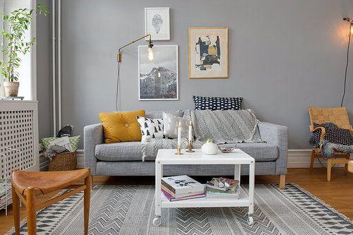cr er une ambiance chaleureuse avec des bougies pinterest salons gris chaleureuse et bougies. Black Bedroom Furniture Sets. Home Design Ideas