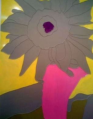 gary hume 'grey sunflower'