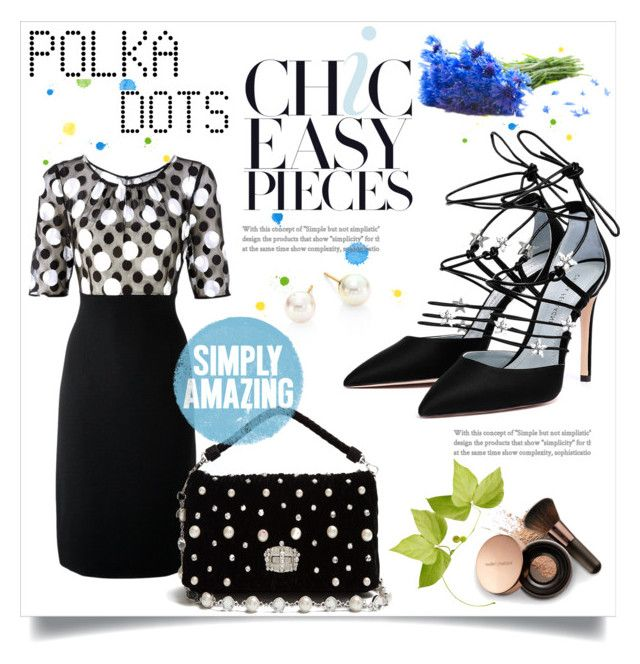 """Polka dots"" by ornellag ❤ liked on Polyvore featuring Hobbs, Miu Miu, Nude by Nature and Majorica"