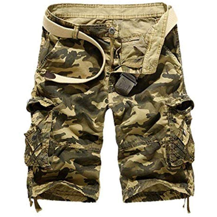 Dfeiping Camouflage Loose Cargo Shorts Herren Coole Sommer Military Camo Kurze H Camo Camouflage Cargo Kurze Hose Camouflage Camouflage Hosen